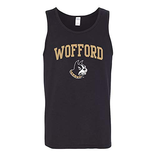 (UGP Campus Apparel AT03 - Wofford Terriers Arch Logo Tank TOP - X-Large - Black)
