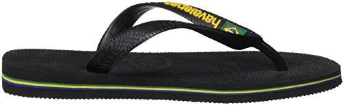 Havaianas Flip Flops Kids Brasil Logo Black HAoJTP
