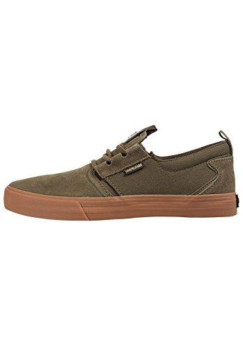 Supra - Mens Stromen Skate Schoenen Olijf-gum