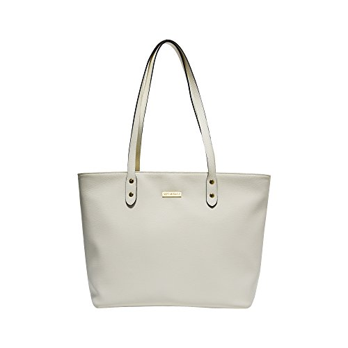 SEPT MIRACLE PU Leather Womens Portable Handbags Tote Bag Shoulder Bag Purse (Ivory color)