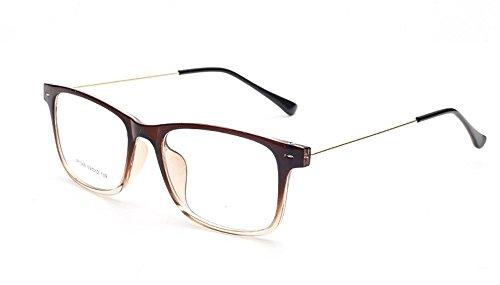 Flowertree Unisex S9352 Lightweight Super Thin Arm Wayfarer 52mm Glasses (Gradient - Gradient Readers Square