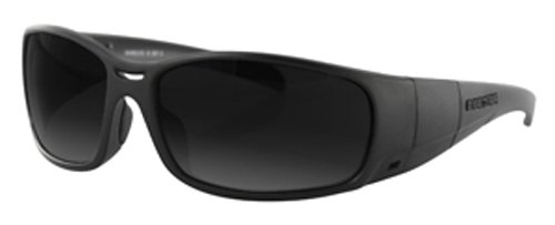 Bobster Ambush Prescription Ready Sunglasses, Black Frame/Smoked Lens,one size