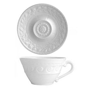 Bernardaud Limoges porcelain Louvre Tea Cup and Saucer set