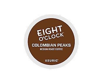 Eight O'Clock Coffee Colombian Peaks, Keurig K-Cups