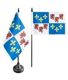 Digni Drapeau de table France Picardie, mini drapeau - 10 x 15 cm