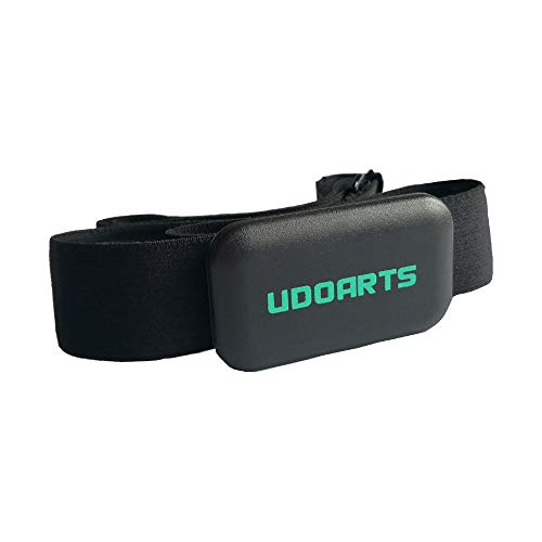 UDOARTS Heart Rate Monitor with Chest Strap for iPhone,Android Phone,Wahoo,Polar,Suunto Garmin,Man and Woman,Bluetooth4…