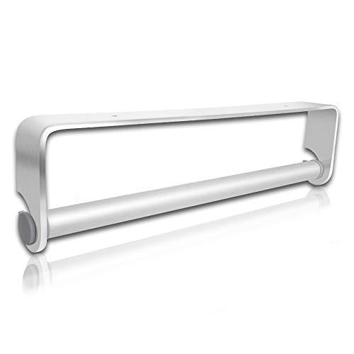 QZNA Self Adhesive & Wall Mount Paper Towel Holder & Dispenser,kitchen Tissue Towel Holder Stand Under Cabinet-Silver