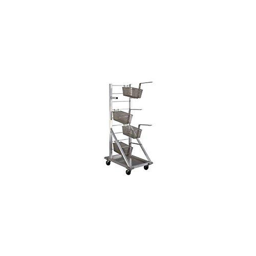Fry Basket Rack (New Age Industrial 1210 Aluminum Fry Basket Cart with Drip Pan)