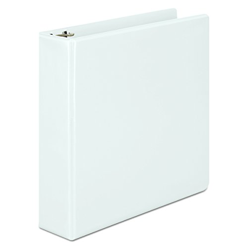 Wilson Jones 2 Inch 3 Ring Binder, Basic D-Ring View Binder, White (W386-44W) by ACCO Brands