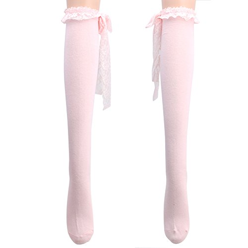 Chunshop Lace Lolita Over Knee Socks Gothic Punk Thigh-Highs Stockings (#04) (Lolita Clothing)