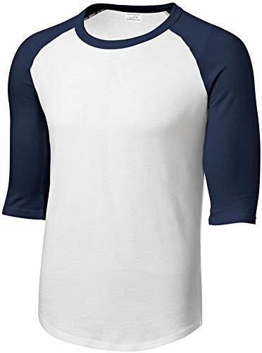 Joe's USA Mens Cotton/Poly 3/4 Sleeve Baseball Tee, - Baseball Jersey Joe