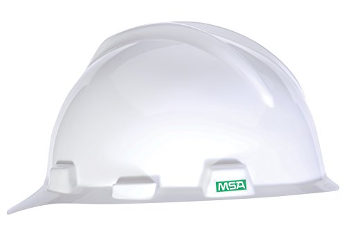 MSA 466354 Polyethylene V-Gard Slotted Protective Cap with Staz-On Suspension, Small, White by MSA
