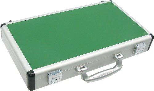 vCase6: Alu Koffer / Alukoffer für Mini Notebooks, Laptops & Netbooks - 41cm (hell / grün)