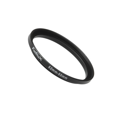 Fotodiox Metal Step Up Ring Filter Adapter, Anodized Black Aluminum 52mm-55mm, 52-55 mm