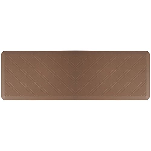 WellnessMats Moire Brown Motif Inch