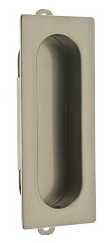 idh by St. Simons 25400-015 Professional Grade Quality Genuine Solid Brass Rectangular Flush Pull, Satin (Decorative Flush Handle)