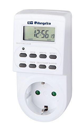 Orbegozo PG 20 - Programador elé ctrico digital con pantalla LCD, temporizador de funcionamiento programable Sonifer 16275.0 programador electrico exterior temporizador riego enchufe temporizador enchufe programable programador enchufe temporizadore