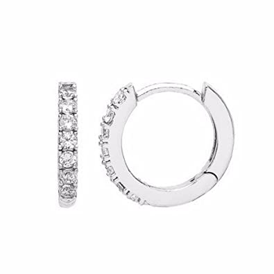 81fd9c34e7f29 Estella Bartlett Silver-Plated Huggie Hoop Cubic Zirconia Earrings ...
