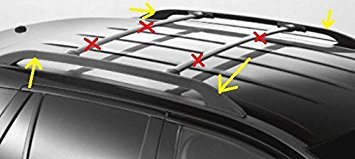 Oem Factory Stock Genuine 2007 2008 2009 2010 2011 2012 2013 2014 Ford Edge Side Roof Rails Bars Luggage Rack (Oem Stock)