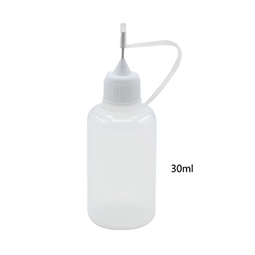 Lychee 30ml Precision Tip Glue Applicator Bottle for Quilling Origami Henna Tattoo ()
