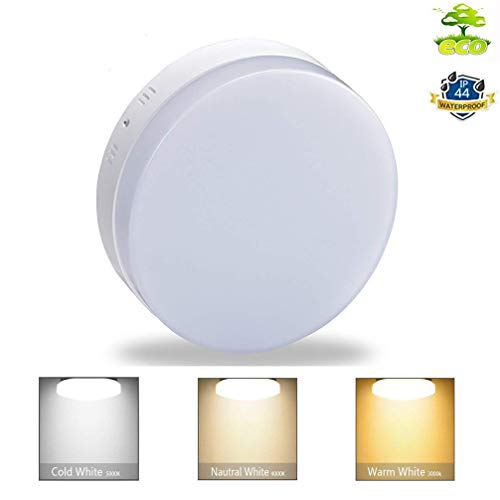 W-LITE 18W Dimmable Led Flush Mount Ceiling Light Lighting with Remote-IP44 Waterproof Close to Ceiling Lights Fixture for Bathroom,Kitchen,Dining Room,Corridor,Wet Location ()