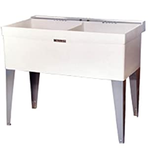 Mustee 27F Double Bowl Laundry Tub