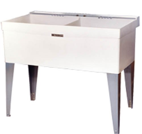 Twin Bowl Sink (Mustee 27F Double Bowl Laundry Tub)