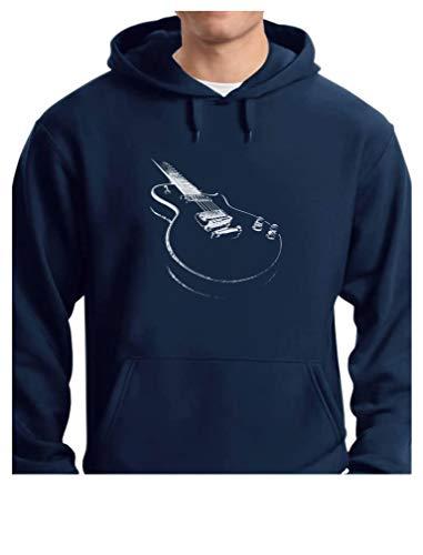 (TeeStars - Gift for Guitarist - Cool Musician Electric Guitar Printed Hoodie Large Blue)