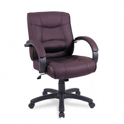 Alera : Strada Series Mid-Back Swivel/Tilt Chair with Brown