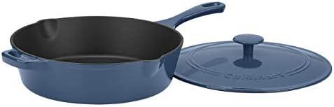 Cuisinart CI45-30BG Cast Iron Pan, 12 Chicken Fryer, Enameled Provencial Blue