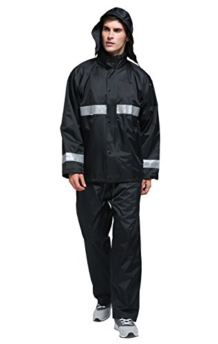 Maiyu Motorcycle Rain Suit Waterproof Rain Jacket and Pants Set 2 Piece Rain Gear For Adult by Maiyu (Image #1)