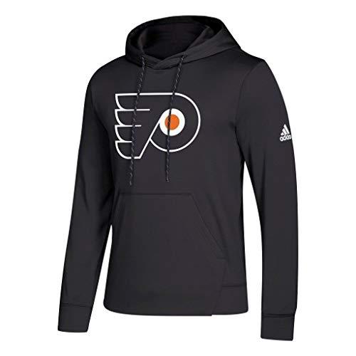 Philadelphia Flyers Black Adidas 2018-19 Synthetic Hooded Sweatshirt Hoody (M) ()