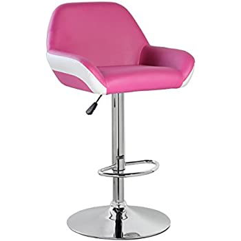 KERLAND PU Leather Modern Design Swivel Adjustable Seat Height Home Kitchen Bar Stool Chair With Padded  sc 1 st  Amazon.com & Amazon.com: KERLAND PU Leather Modern Design Swivel Adjustable ... islam-shia.org