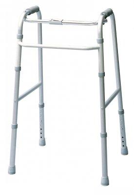 GF Health 613070A Single Release Folding Walkers, Standard Rubberized PVC Grip, Adult (Pack of 4)