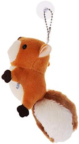 キーリング キーホルダー リス人形 ぬいぐるみ ペンダント かわいい ハンドバッグ 装飾 全3色