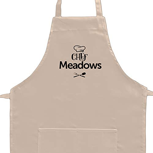 - Eddany Chef Meadows barbecue utensils Embroidery Custom Aprons Adult or Kid
