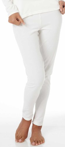 Cuddl Duds Tailored Thermal Pants, Ivory, Large - Misses, Womens
