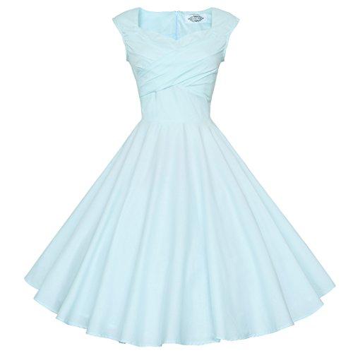 Maggie Tang - Vestido para mujer, diseño años 50 y 60 Mint blue
