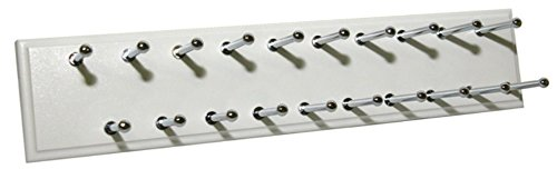 Easy Track Ra1200 Sliding Tie Rack, 20 Hook, White ()