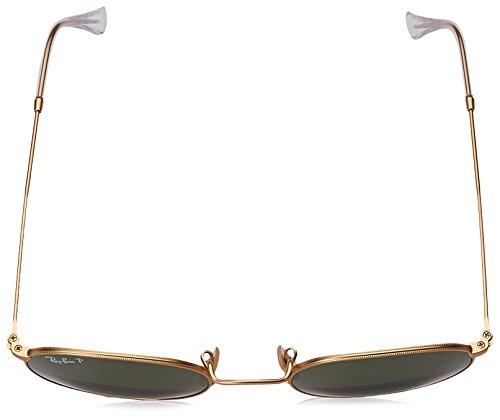 oro sol verde 58 50 Metal redondeos Matte de de gafas Ray Gold Polarizan Ban en RB3447 112 vxHq6Iz
