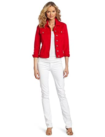KUT from the Kloth Women&39s Denim Jacket St Tropez Red Small at