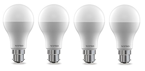Wipro Garnet Base B22 14-Watt LED Bulb (Pack of 4, Cool Day Light)