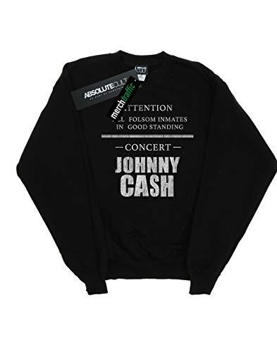 Felpa Absolute Concert nera Man Cash Folsom Johnny Cult wpnx7q6pY