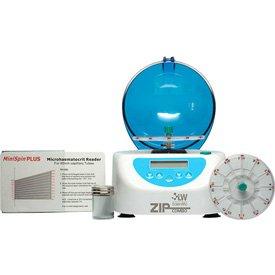 Microhematocrit Centrifuge - LW Scientific ZCC-12HD-40T3 ZipCombo Centrifuge with 12-Place Microhematocrit Rotor