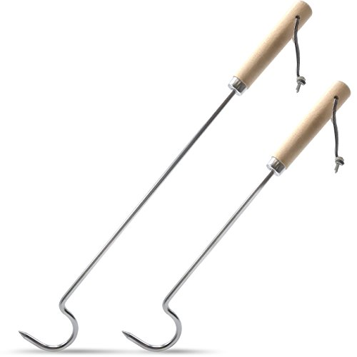 Sorbus Pigtail Barbecue Turners – Great BBQ Hooks & Food Flipper Sticks for Bacon Meat Vegetables Sausage Fish Chicken Steak Ribs and More – Set of ()
