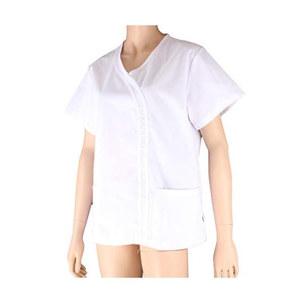 MISEMIYA Casaca Señora Mangas Cortas Uniforme Laboral Clinica Hospital Limpieza Veterinaria Sanidad Hostelería Camisa de utilidades de Trabajo para Mujer 5