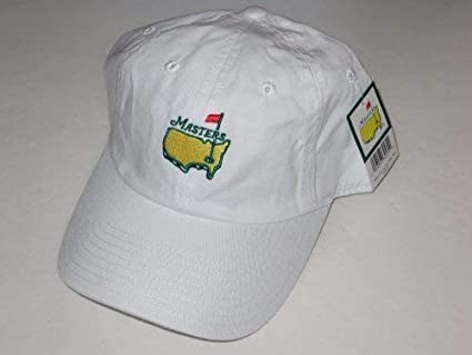fe3e063d1efe9 Masters hat white caddy style augusta national golf new 2019 pga at  Amazon s Sports Collectibles Store