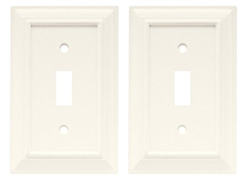 - Brainerd Set of Two 126333 Wood Architectural Single Toggle Switch Wall Plat.