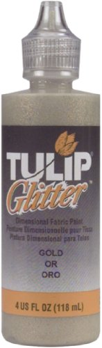 Glitter Fabric Paint 4 Ounces-Gold