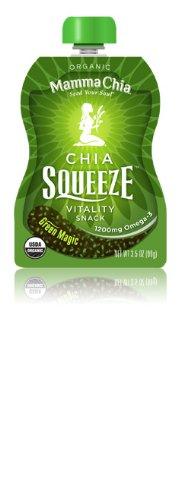 Mamma Chia Squeeze Packs - Green Magic - 3.5 OZ - 16 pk